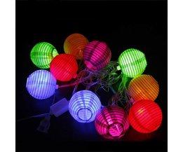LED Snoer met 10 Papieren Lampionnen