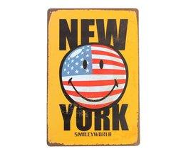 New York Poster van Metaal
