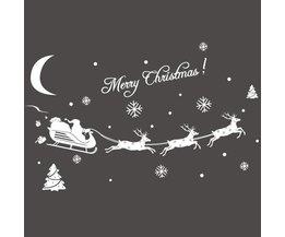 Kerststicker Rendieren