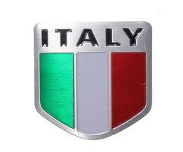 Italiaanse Vlag Sticker Auto van Metaal