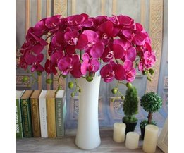 Orchidee Kunstbloemen van Zijde in 3 Kleuren