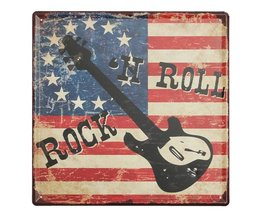 Rock and Roll Decoratiebord
