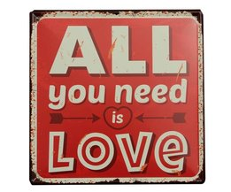 All You Need Is Love Decoratiebord