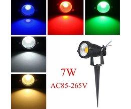7W LED Tuinverlichting In Meerdere Kleuren