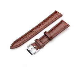 PU-leren Horlogeband In Twee Kleuren 20MM
