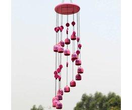 Windgong van Metaal in de Kleur Roze