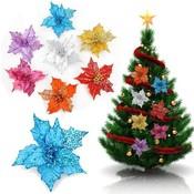 Decoratieve Glitter Kunstbloem voor Kerst 16CM