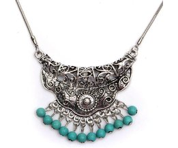 Vintage Ketting van Tibetaans Zilver