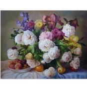 Bloemen Schilderen op Nummer met Olieverf 40x50CM