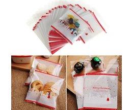 Transparante Kerst Cadeautasjes 100 Stuks