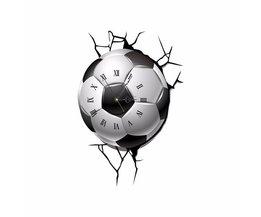 Voetbalklok op Muursticker