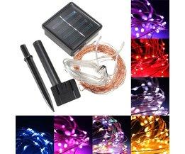 LED Snoer Op Zonne-Energie In Verschillende Kleuren
