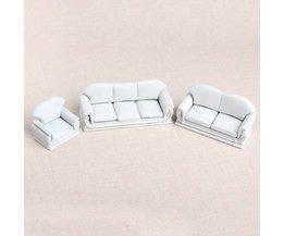 Miniatuur Sofa Set voor Poppenhuizen 01:30