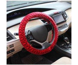 Auto Stuurhoes in de Kleuren Rood & Wit