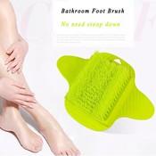 Groene of blauw voetborstel voor ontspannen voeten