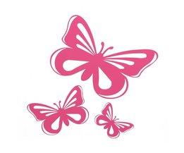 Sticker In De Vorm Van Een Vlinder