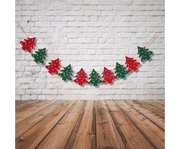 Decoratieve Kerstslinger met 10 Kerstbomen 2.8 Meter
