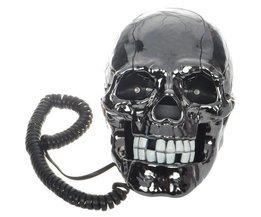 Zwarte Schedel Telefoon