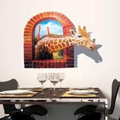 3D Giraffe Muursticker van PVC Materiaal