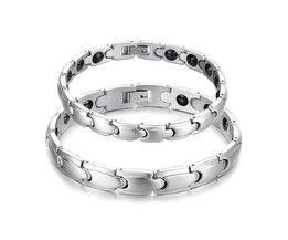 Magnetische zilveren armbanden