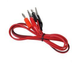 Testsnoerklemmen rood en zwart voor multimeters