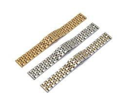 Roestbestendige horlogeband in Goud of Zilver