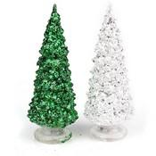 Lichtgevend Kerstboompje in Groen of Zilver