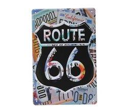 Bord met Route 66