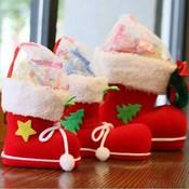 Decoratieve Rode Kerstsok S/M/L