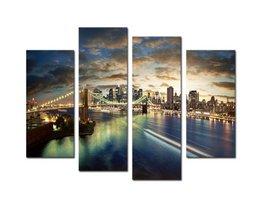 Schilderij Brooklyn Bridge op Canvas