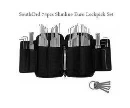 SouthOrd Slimline 74 Pcs Lockpick Set
