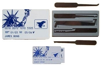 Credit card style lockpick set