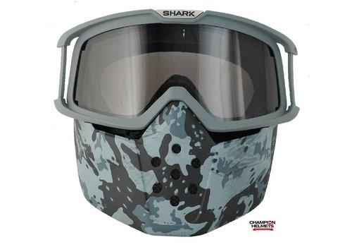 Shark Raw Camo Face Shield mask and goggles