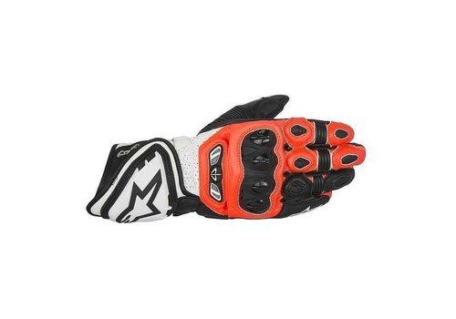 Alpinestars GP Tech Gloves Black Red Fluo White