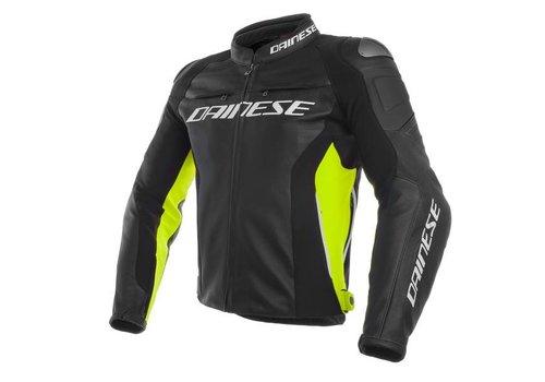 Dainese Racing 3 Leren Motorjas - Zwart Fluo Geel