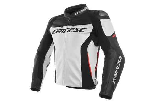 Dainese Racing 3 Blouson - Blanc Noir Rouge