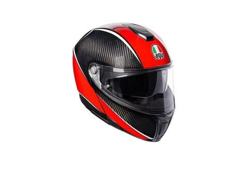 AGV SportmodularУглеродный красный шлем