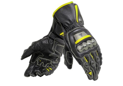 Dainese Full Metal 6 Motorhandschoenen Zwart Geel