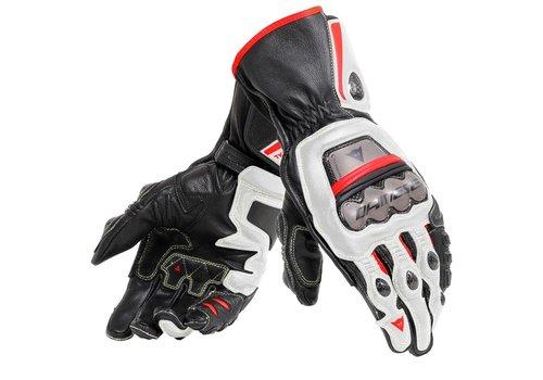 Dainese Full Metal 6 Motorhandschoenen Zwart Wit Rood