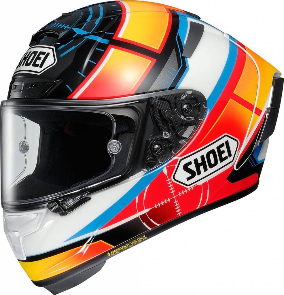 2a785e755d2 Shoei X-Spirit III De Angelis TC-1 Helmet + Free Extra Visor ...