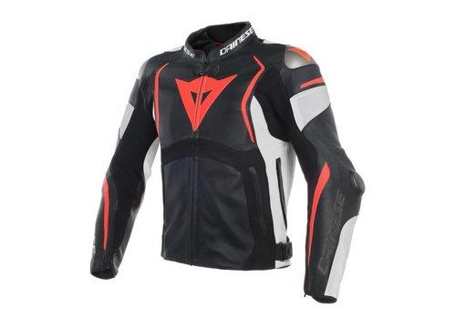 Dainese Dainese Mugello куртки Черный Белое Fluo-Красный