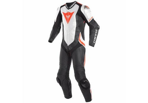Dainese Dainese Laguna Seca 4 Perforated 1-delig Motorpak Zwart Wit Fluo Rood