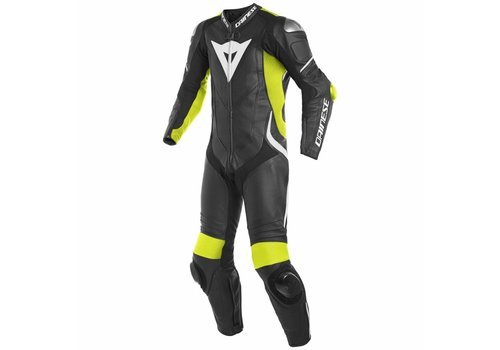 Dainese Dainese Laguna Seca 4 Perforated One-Piece Racing Suit Black Fluo Yellow White