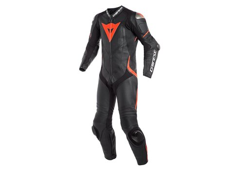 Dainese Dainese Laguna Seca 4 Perforated One-Piece Racing Suit Black Fluo Red