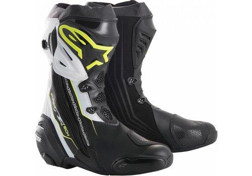 Alpinestars Alpinestars SUPERTECH-R Motorcycle Boots Black Yellow Fluo White