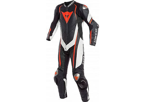 Dainese Dainese Kyalami One Piece Racing Suit Black White Fluo Red