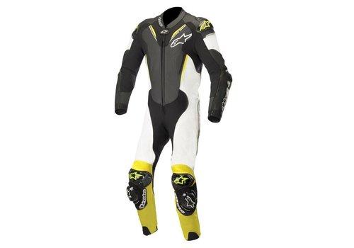 Alpinestars Alpinestars ATEM V3 Leather Suit Black White Yellow Fluo