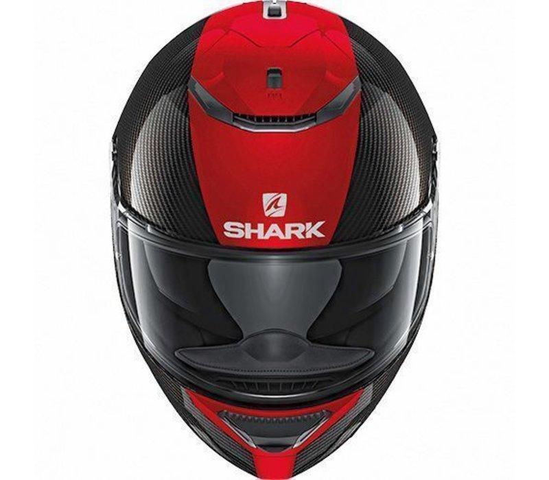 SHARK SPARTAN CARBON SKIN DRR Motorcycle Helmet Size L Black//Red