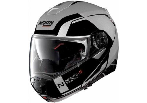 Nolan Nolan N100-5 Consistency N-Com Zwart Zilver Helm