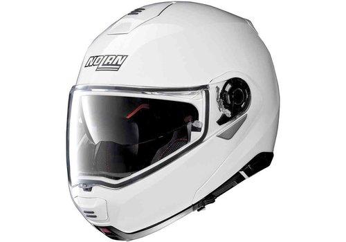 Nolan Nolan N100-5 Classic N-Com Metal White Helmet